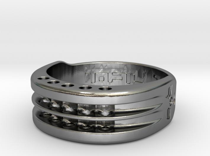 US17 Ring XI: Tritium, Five Holes 3d printed