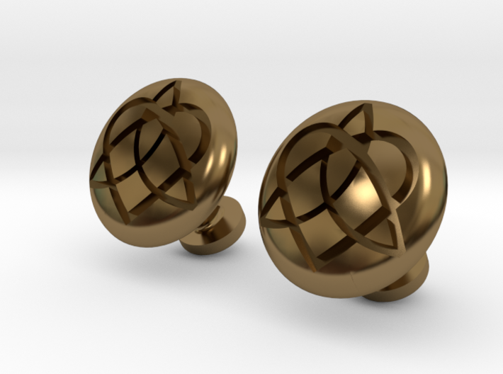 Cuff-link - Celtic - Infinity / Heart 3d printed