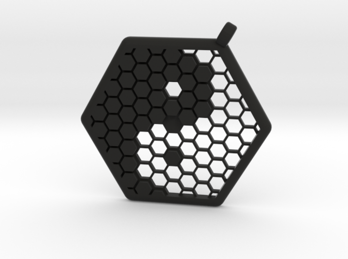 Honeycomb Yin Yang Pendant 3d printed