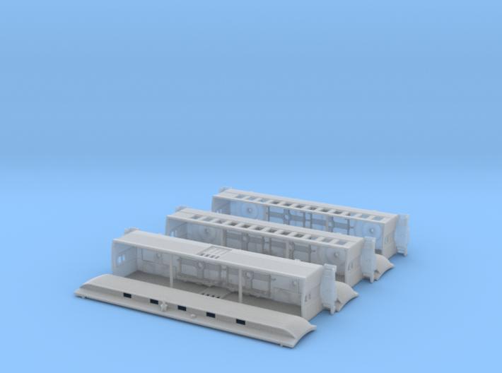 3 car passenger train 3d printed