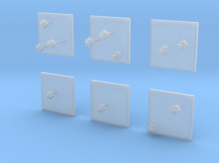 Space Mines 3d printed