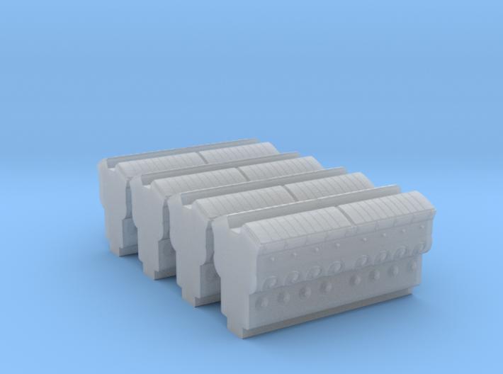 EMD 645 Block (N -1:160) 4X 3d printed