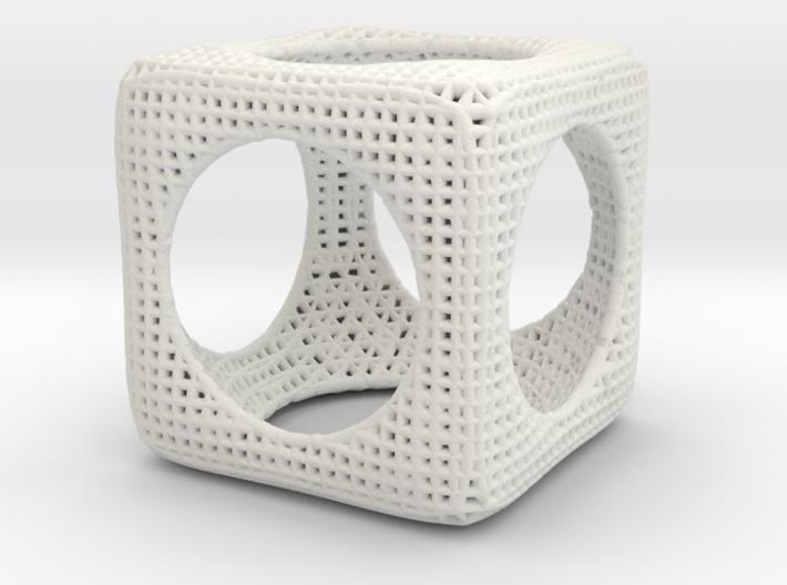 CubeSphere math art 3d printed