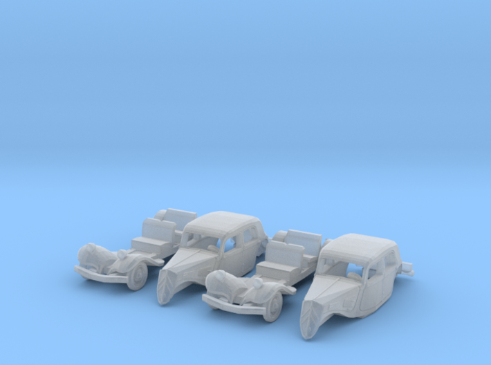 Citroën Traction Avant SET (N 1:160) 3d printed