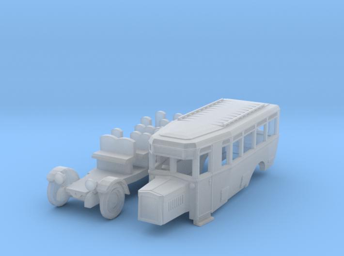 Reichspostbus (N 1:160) 3d printed