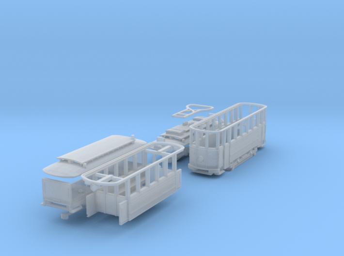 SET Motorwagen + Anhängerwagen (Nm 1:160) 3d printed