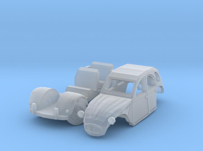Citroën 2CV - parked (British N 1:148) 3d printed