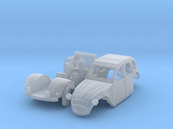 Citroën 2CV - cornering (British N 1:148) 3d printed
