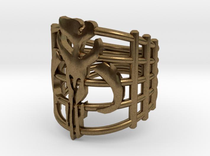 Mandalorian Bounty Hunter Ring 3d printed