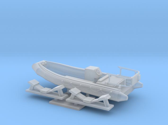 1/72 scale 16.73 feet RHIB Launch 3d printed