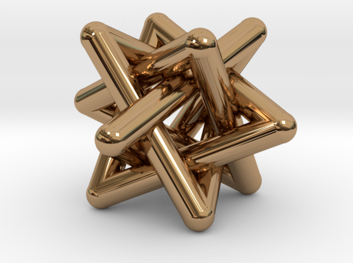 Four Tangled Triangles Small 3d printed