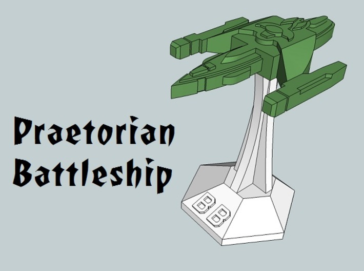 MicroFleet Praetorian Heavy Battlegroup (16 Pcs) 3d printed