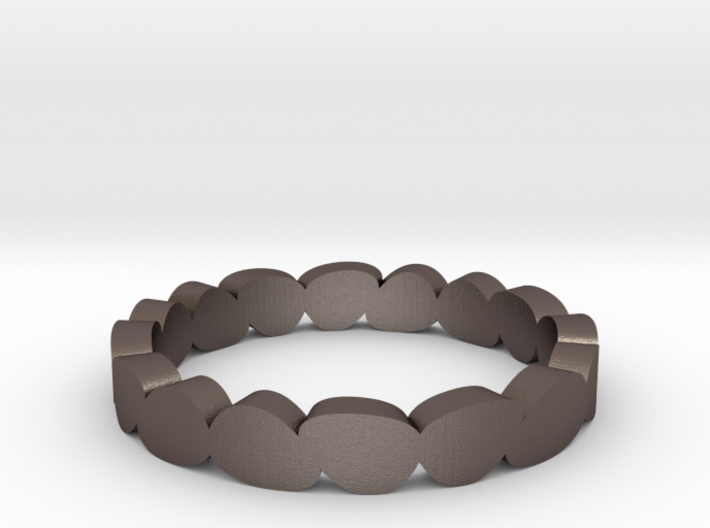 Thin Pebble Ring 3d printed