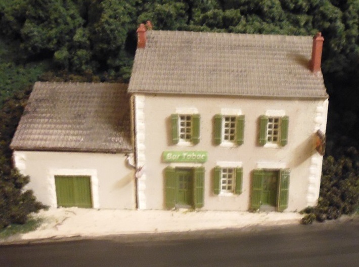 Cafe 2 - Roof - Nm - 1:160 3d printed