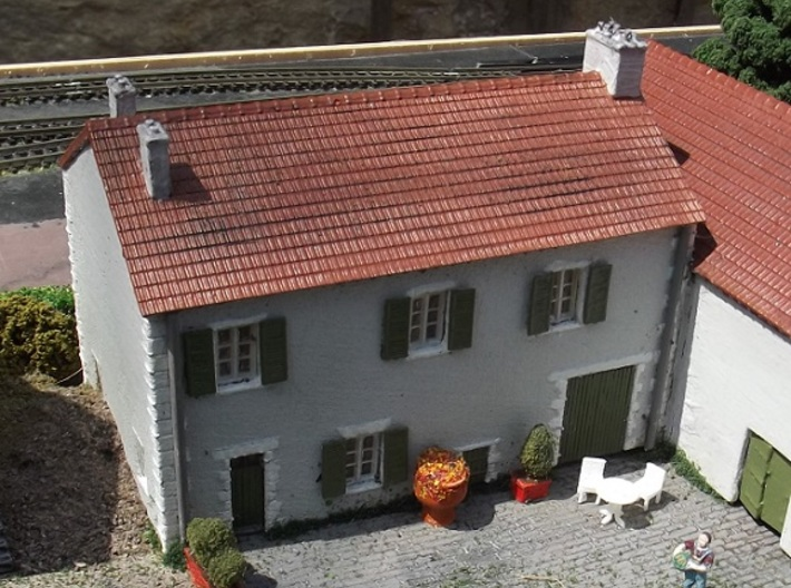 French Farmhouse ( FUD Parts ) N 1:160 3d printed