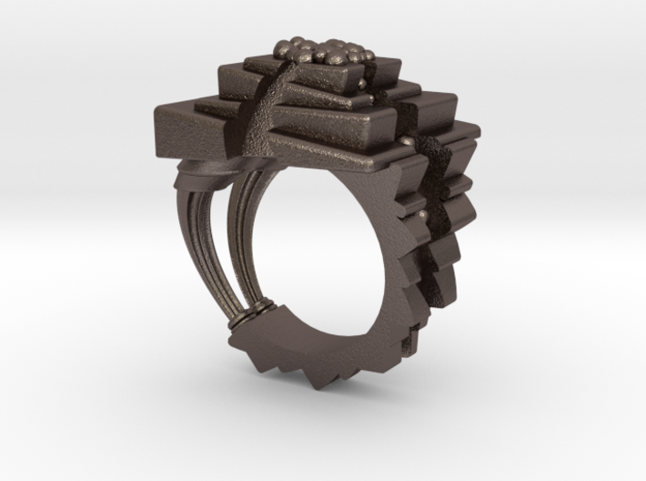 ArchitectureRing_Size8 3d printed