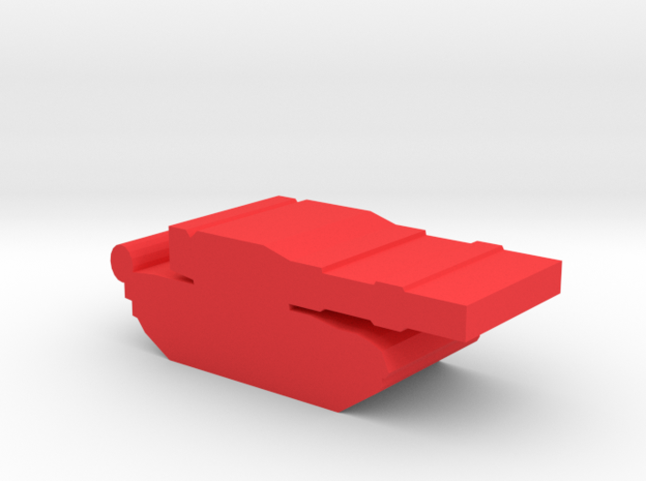 Game Piece, Red Force T-80 Tank 3d printed