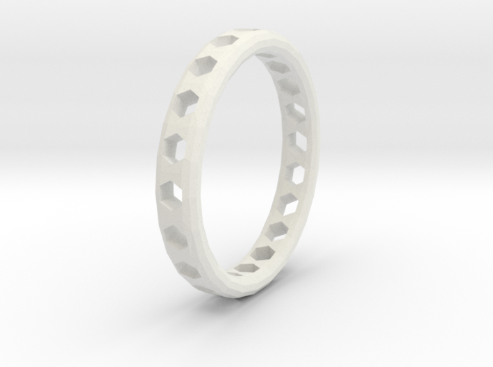 Ring Hexagons 3d printed