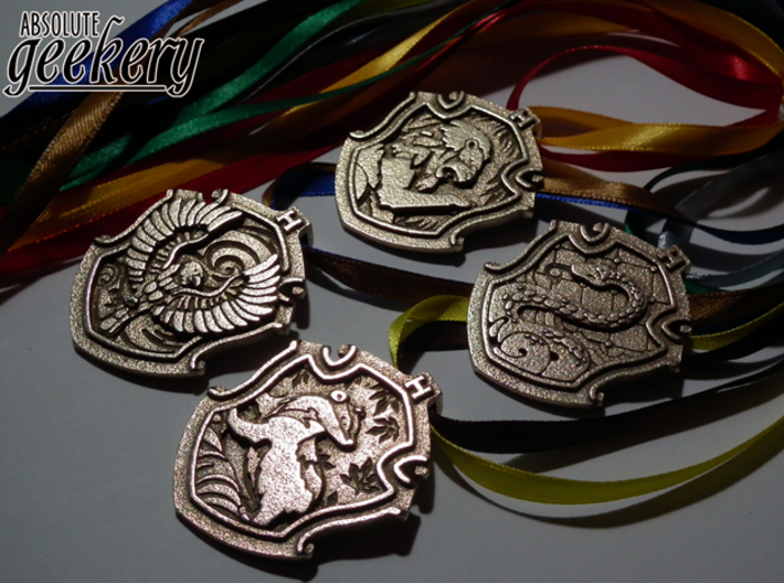 Gryffindor House Crest - Pendant SMALL 3d printed Stainless Steel