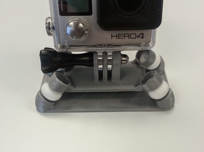 Anti-Vibration GoPro Mount 3d printed A nice compact design.