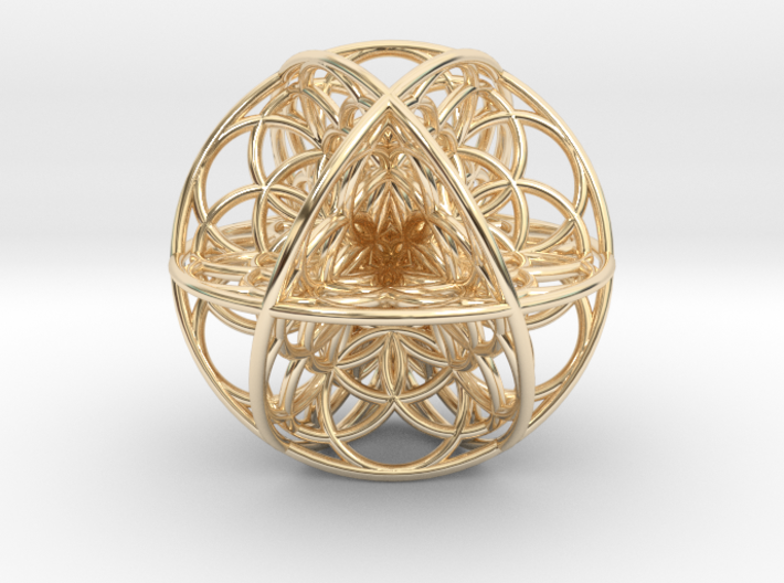 Seed Of Life Sacred Geometry 35x1.2mm 3d printed