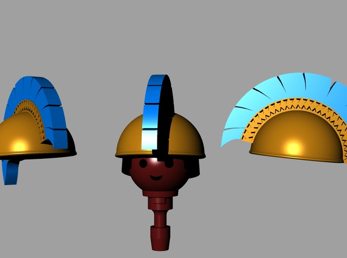 TYRRHENIAN HELMET #2 (repaired) 3d printed
