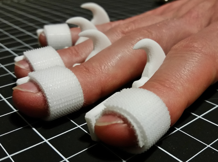 Wearable Cat Claws (Small) - Set of 5 3d printed