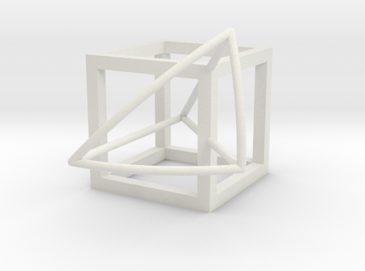 Cube with half-kite panel 3d printed