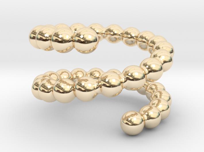 Spiral ring 19 3d printed