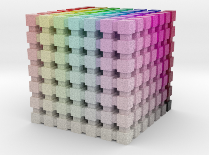 HSL Color Cube: 1 inch 3d printed