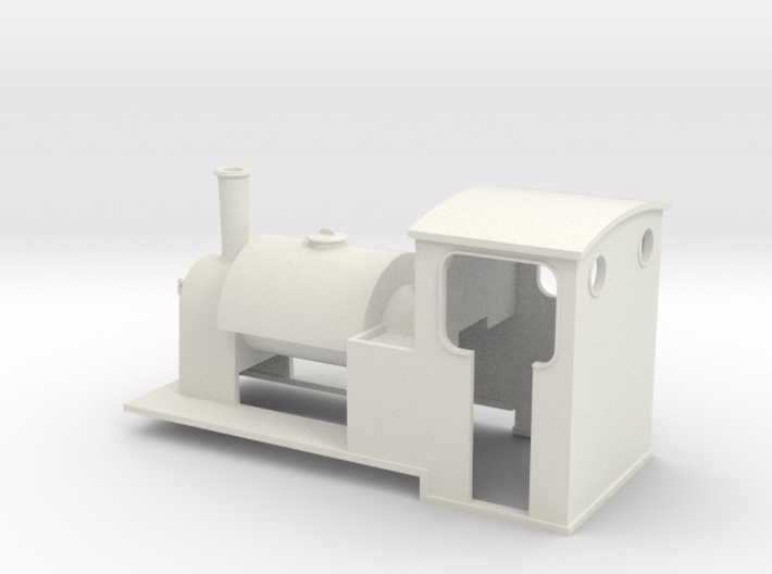 5.5 mm scale saddle-tank loco 3d printed
