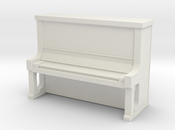 Piano Upright - HO 87:1 Scale 3d printed