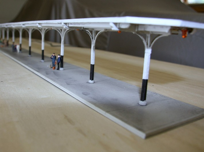 HO Scale Train Shed Support, Houston Grand Central 3d printed Columns for Train Shed