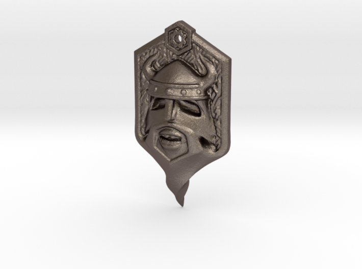 Whisker Pirate 3d printed Stainless Steel