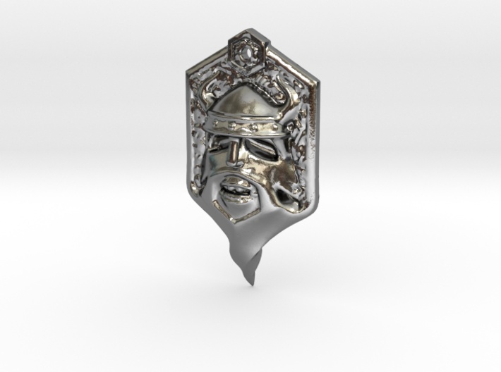 Whisker Pirate 3d printed Polished Silver