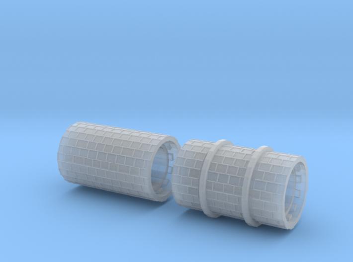 SET 2x Straßenwalzen Meterspur (H0m 1:87) 3d printed
