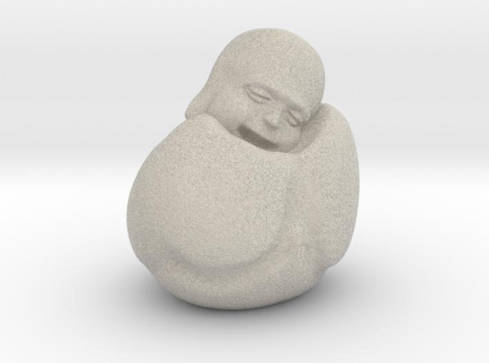 To Sleep Sitting Up Laughing Buddha 3d printed