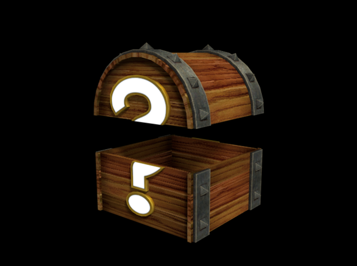 Mystery Chest 3d printed Fancy render of the model.