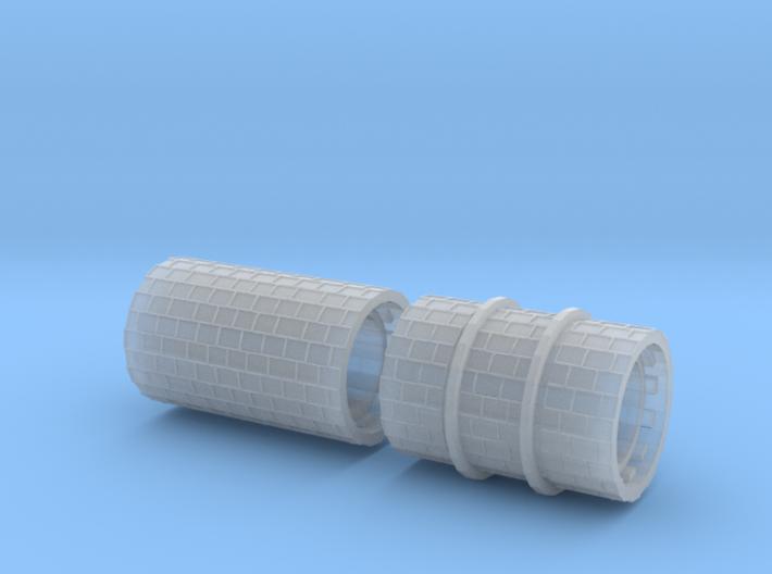 SET 2x Straßenwalzen Schmalspur (H0e 1:87) 3d printed