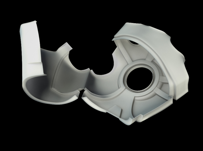 Iron Man Right Palm (XLarge) 3d printed CG Render (Open)