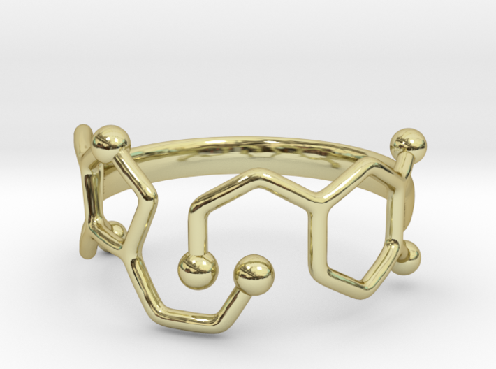 Dopamine Serotonin Ring - Size 7 3d printed