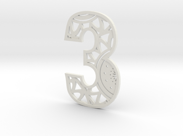House Number 3 3d printed