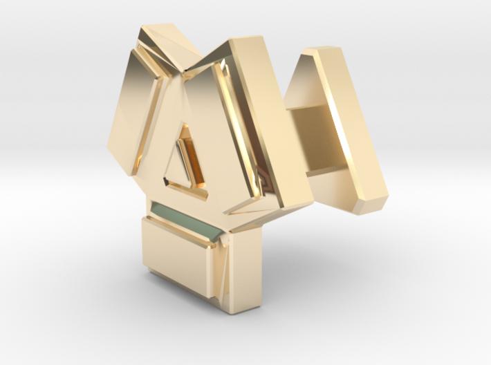 Cufflink Abstarct 3d printed