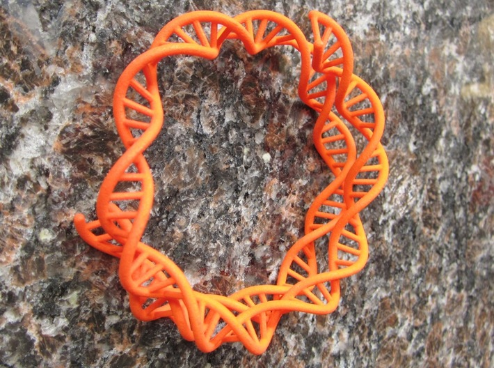DNA Bracelet (63mm, open) 3d printed Prototype