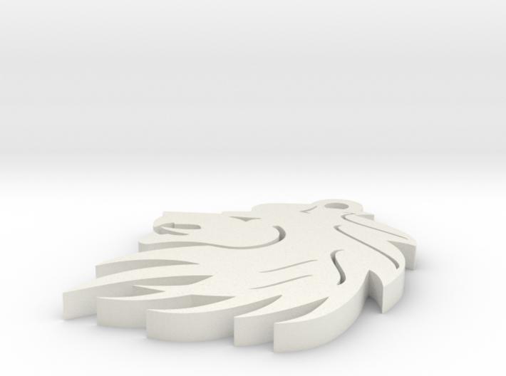 Liopn keychain 3d printed