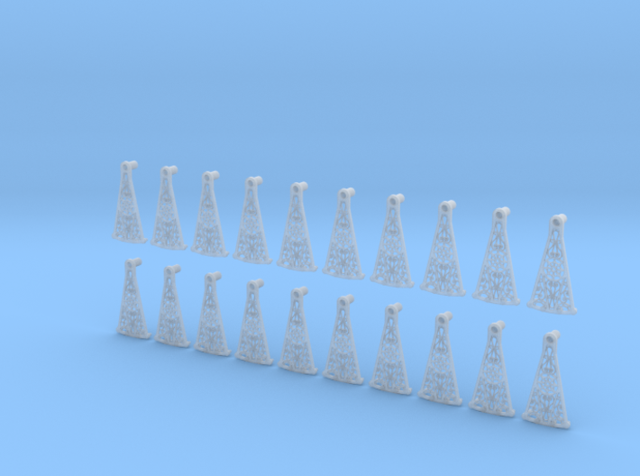 Decorative Spiral Stair Treads 1:24 3d printed