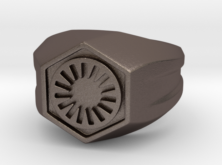 First Order Signet Ring (Size 10 1/4 - 20 mm) 3d printed