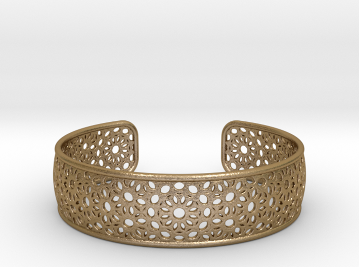 Open Flower Pattern Bracelet 3d printed