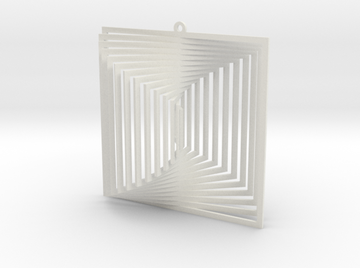 Pendant Wind Spinner 3D Square 3d printed