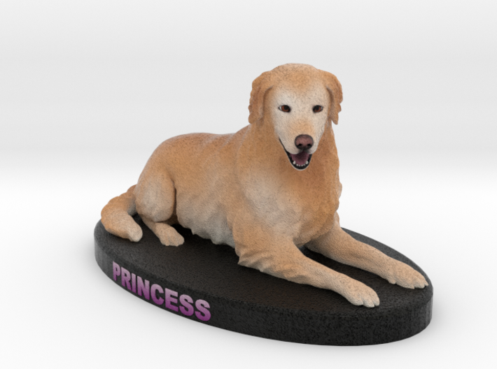 Custom Dog Figurine - Princess 3d printed